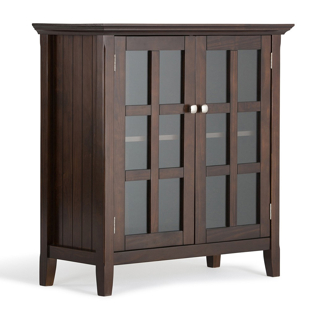 Normandy Solid Wood Low Storage Cabinet Tobacco (Black) Brown - Wyndenhall
