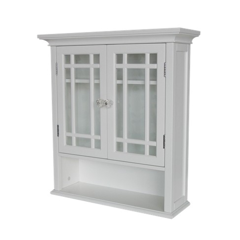Neal Wall Cabinet 2 Doors & 1 Shelf White - Elegant Home Fashions - image 1 of 4