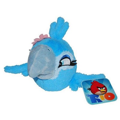 "Commonwealth Toys Angry Birds Rio 16"" Deluxe Plush: Jewel Bird"