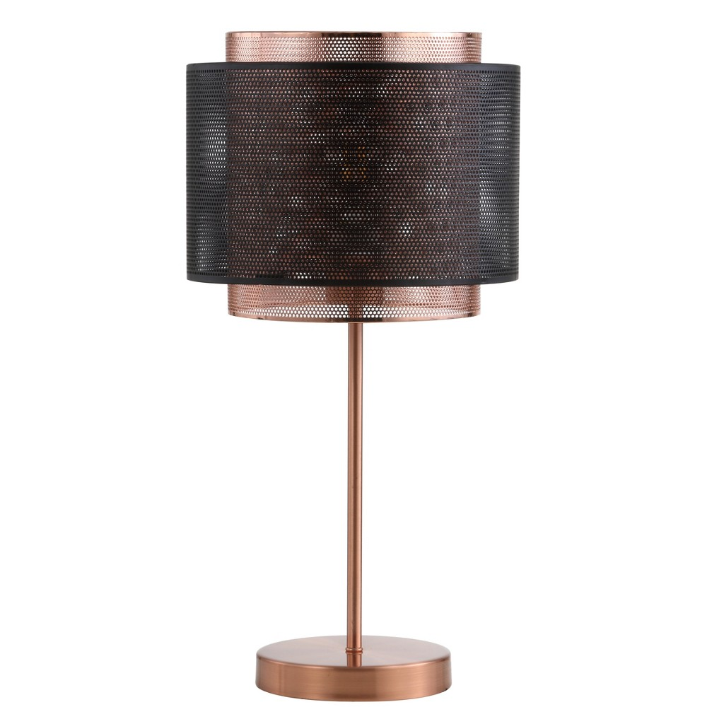 "Image of ""19.7"""" Tribeca Metal LED Table Lamp Copper (Includes Energy Efficient Light Bulb) - JONATHAN Y"""