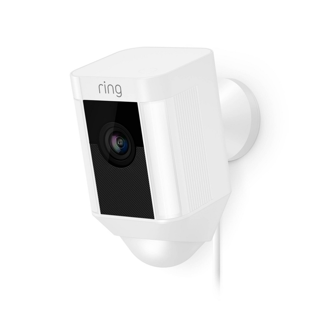 Ring® Spotlight Wired Security Camera in White