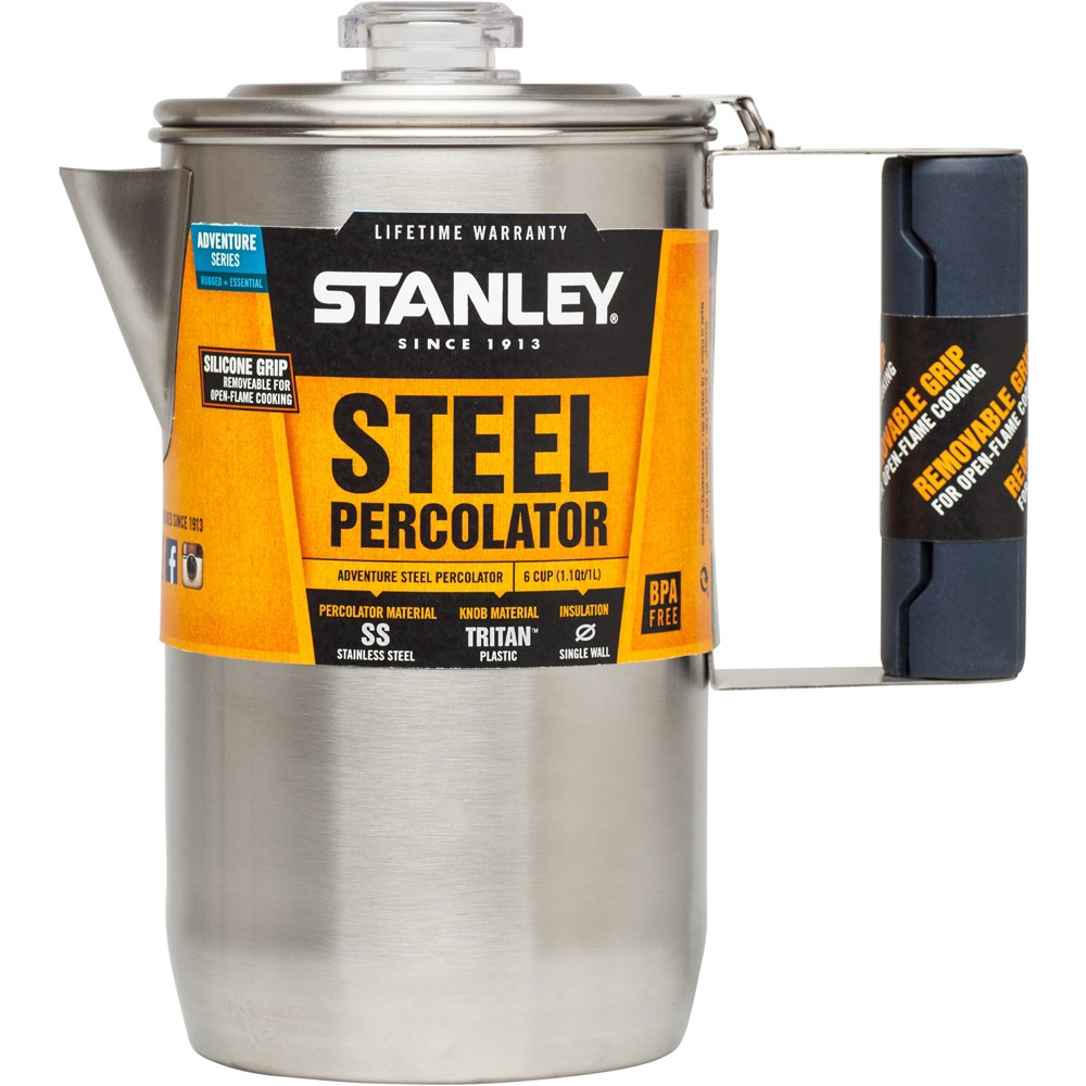 Stanley Adv. 1.3Qt Coffee Percolator, Silver 49139240