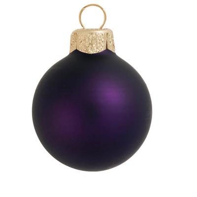 "Northlight 12ct Matte Glass Ball Christmas Ornament Set 2.75"" - Purple"