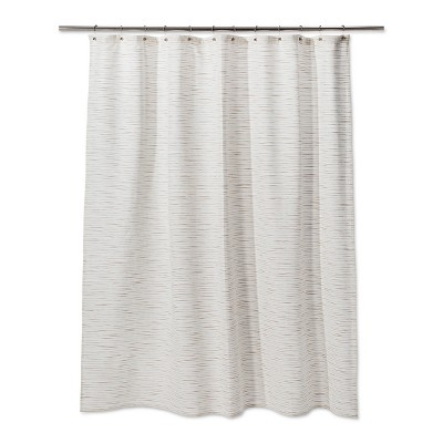 Woven Metallic Slub Shower Curtain Sour Cream - Project 62™