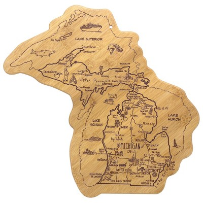 Totally Bamboo Destination Michigan (Full State)Serving and Cutting Board