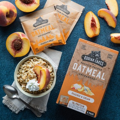 Kodiak Cakes Peaches and Cream Oatmeal Packet - 10.58oz