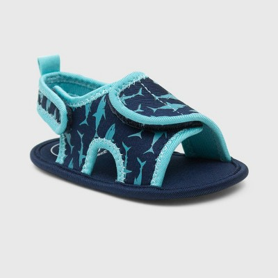 Ro+Me by Robeez Baby Boys' Shark Ankle Strap Sandals