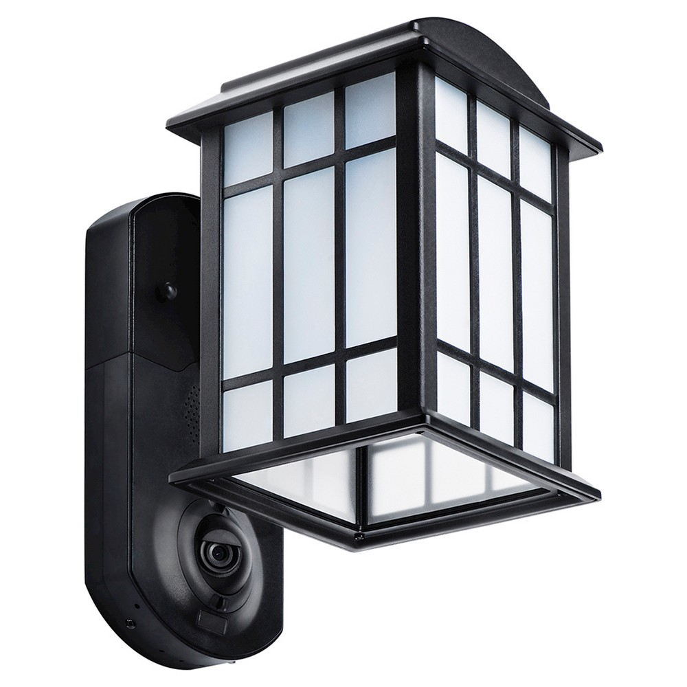 Image of Craftsman Smart Security LED Outdoor Wall Light Black - Maximus