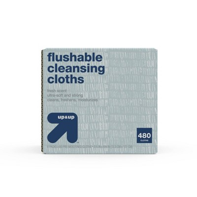 Flushable Cleansing Cloths - up & up™