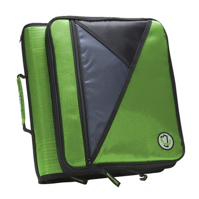 Case-it Universal Laptop Zipper Binder, O-Ring, 2 Inches, Green