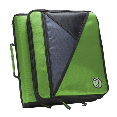 Case-it Universal Laptop Zipper Binder, O-Ring, 2 Inches, Green - image 1 of 4