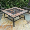 "33"" 4-in-1 Capri Ceramic Tile Fire Table Black - leisurelife - image 2 of 4"