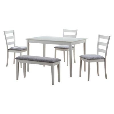 Dining Table Set - 5 Piece Set - White - EveryRoom