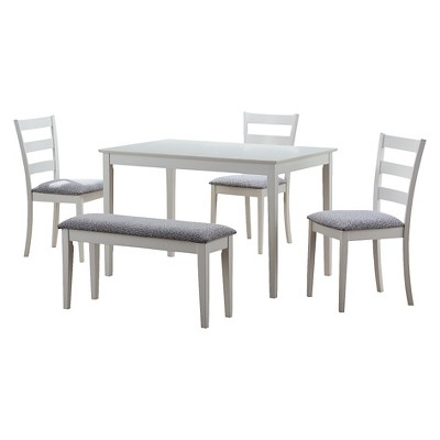 Dining Table Set   5 Piece Set   White   EveryRoom
