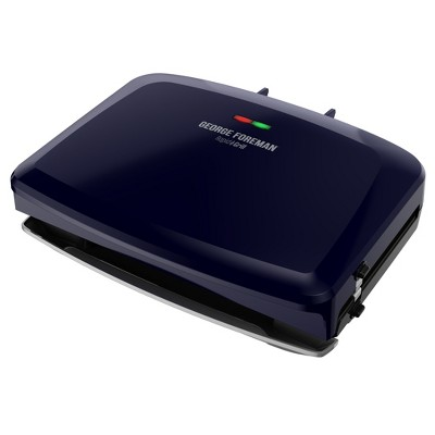 George Foreman Rapid Grill Series 5-Serving Removable Plate Electric Indoor Grill and Panini Press - Navy RPGF3801BLX
