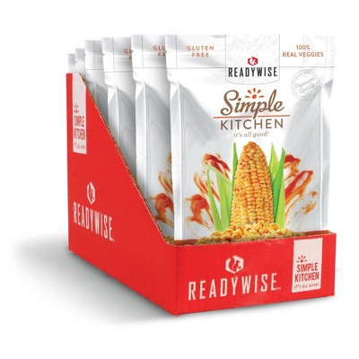 ReadyWise Simple Kitchen Sriracha Corn Freeze-Dried Vegetables - 9.6oz/6ct