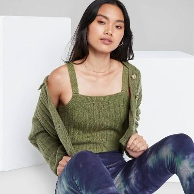 Women's Rib Cropped Sweater Tank Top - Wild Fable™
