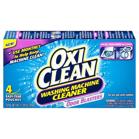 OxiClean Washing Machine Cleaner Pouches with Odor Blasters - 4 ct - image 1 of 1