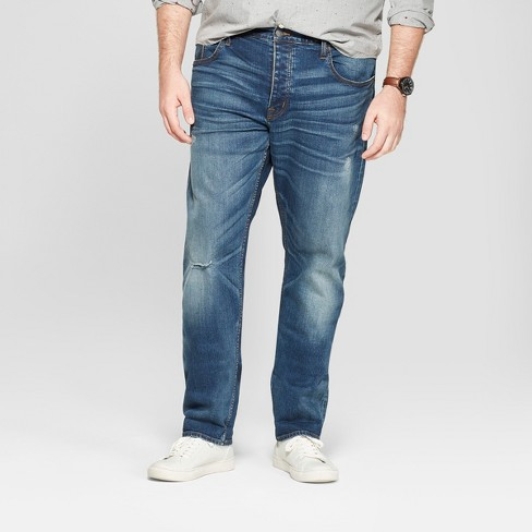 Men's Tall Slim Stretch Selvedge Jeans - Goodfellow & CO™ Medium Wash - image 1 of 3