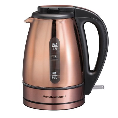 Hamilton Beach 1.7L Electric Kettle - Copper 40866
