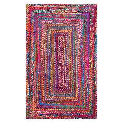 Solid Braided Area Rug 5'X8' - nuLOOM