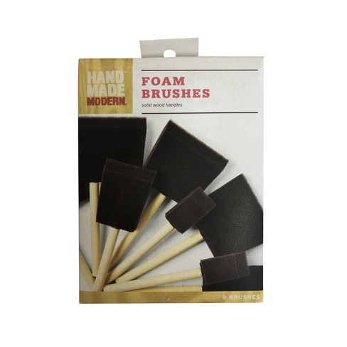 8pc Foam Paint Brush Variety Pack - Hand Made Modern® - image 1 of 3