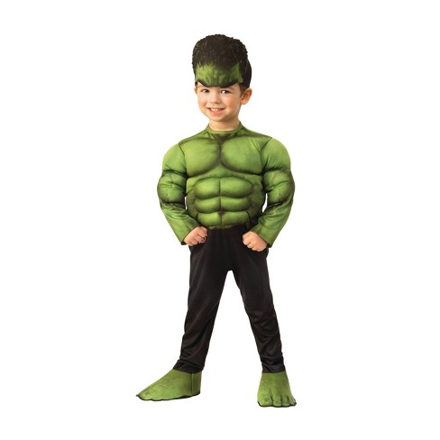Toddler Boys' Marvel Hulk Muscle Chest Halloween Costume - image 1 of 1