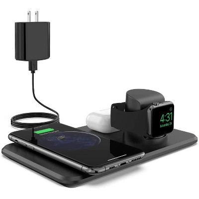 Letscom 3 In 1 Wireless Charger Qi-certified 15w Fast Charging Station For Apple Watch, Airpods2, Wireless Charging Dock Compatible With Iphone ADAPTER INCLUDED 12/11/xs Max/xr/xs/x/iwatch - W01CH