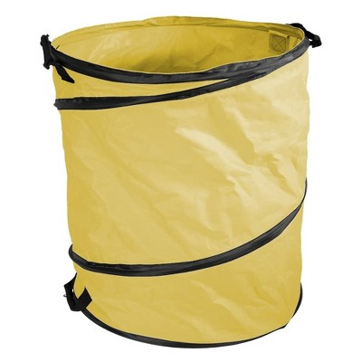 Amazing Rake PD-3792 Collapsible 40 Gallon Garden Yard Work Pop Up Bag with 3 Carry Handles, for Storage or Cleanup, Yellow