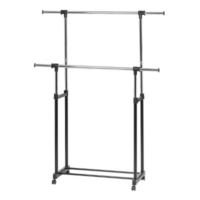 IRIS Garment Rack Adjustable and Extendable Rod Black