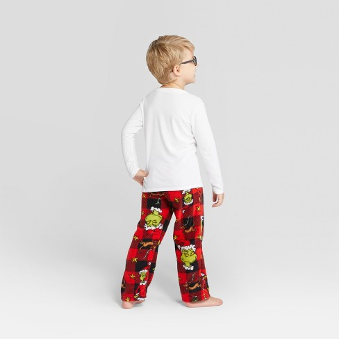 c9b0f3e796ae Kids  Dr. Seuss The Grinch Holiday Pajama Pants - Red 10   Target