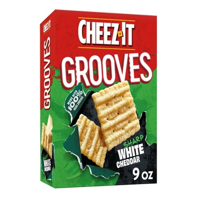 Cheez-It Grooves Sharp White Cheddar Crackers - 9oz