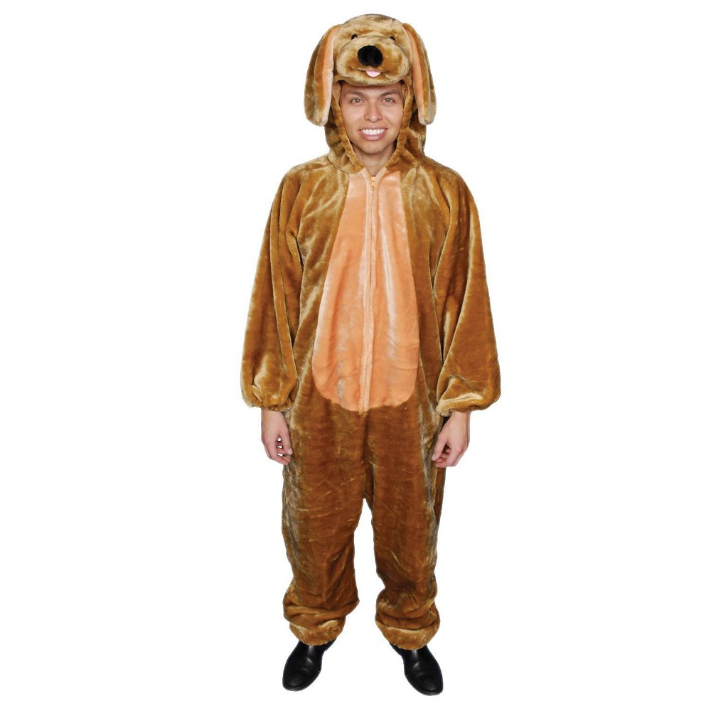 Image of Halloween Men's Puppy Costume, Size: Small, MultiColored