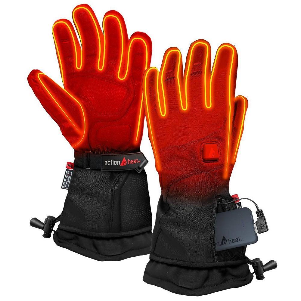 Actionheat 5v Battery Heated Men 39 S Premium Gloves Black L