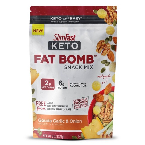 SlimFast Keto Fat Bomb Snack Mix - Gouda Garlic & Onion - 1ct - image 1 of 3