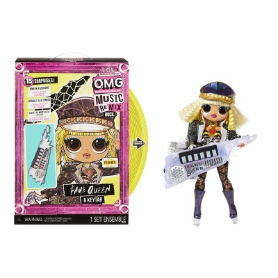 L.O.L. Surprise! OMG Remix Rock Fame Queen and Keytar Fashion Doll