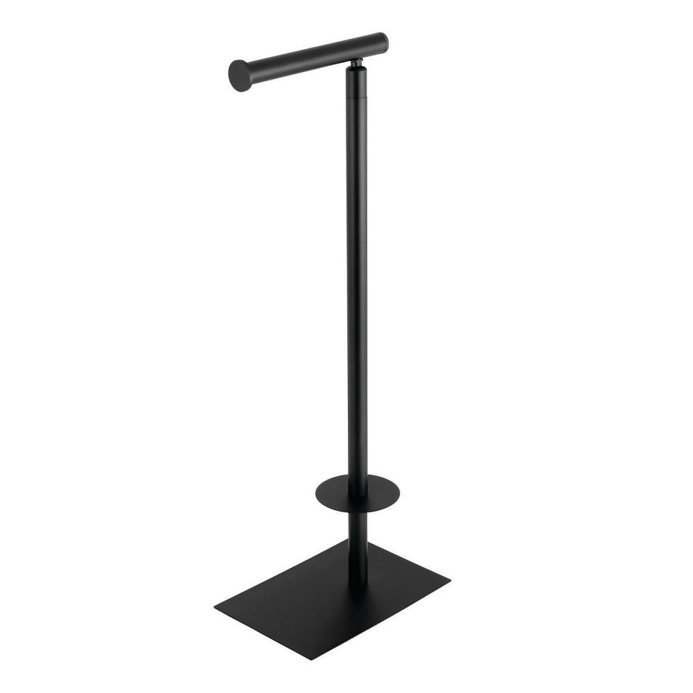 Image of Claremont Freestanding Toilet Paper Stand Matte Black - Kingston Brass