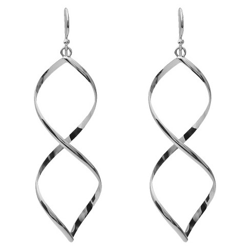 Women's Tressa Collection Sterling Silver Twisted Dangle Earrings - image 1 of 3