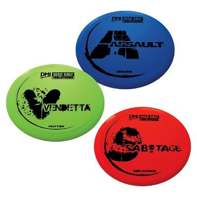 Verus Sports Expert Disc Golf Set - Red/ Blue/ Green