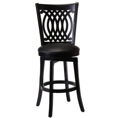 "25"" Van Draus Swivel Counter Height Barstool Metal/Black - Hillsdale Furniture"