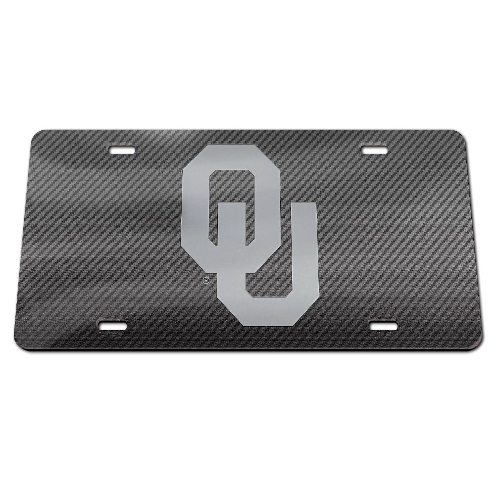 NCAA Oklahoma Sooners Carbon License Plate Frame
