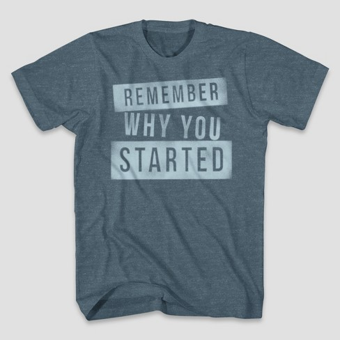 Men's Remember Why Short Sleeve Graphic T-Shirt - Denim Heather - image 1 of 1