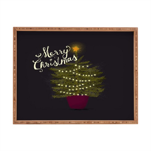 Joy Laforme Merry Christmas Little Tree Tray - Deny Designs - image 1 of 1