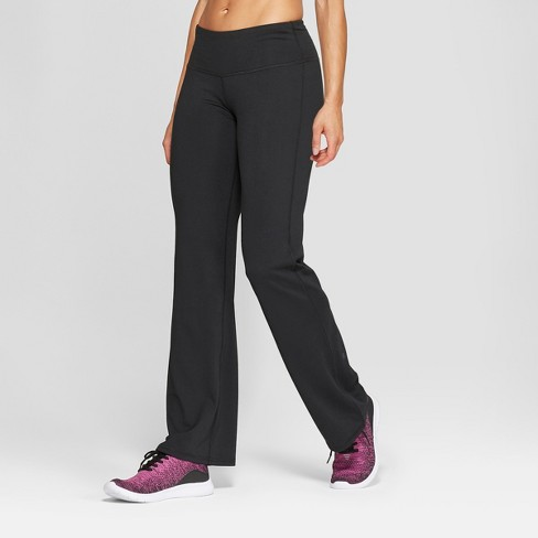 "Women's Everyday Mid-Rise Flare Pants 31.5"" - C9 Champion® Black - image 1 of 2"