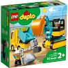 LEGO DUPLO Construction Truck & Tracked Excavator Digger and Tipper Building Site Toy 10931 - image 4 of 4