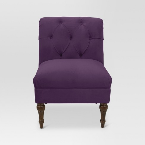 Velvet Arched Back Chair - Threshold™ - image 1 of 6