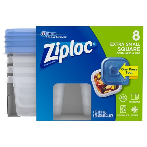 Ziploc Square Extra Small Container - 8ct - image 1 of 6
