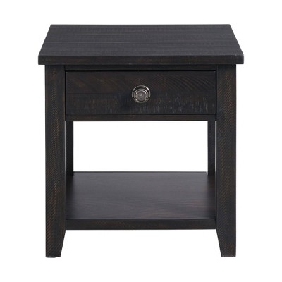 Kahlil End Table with Drawer Espresso - Picket House Furnishings