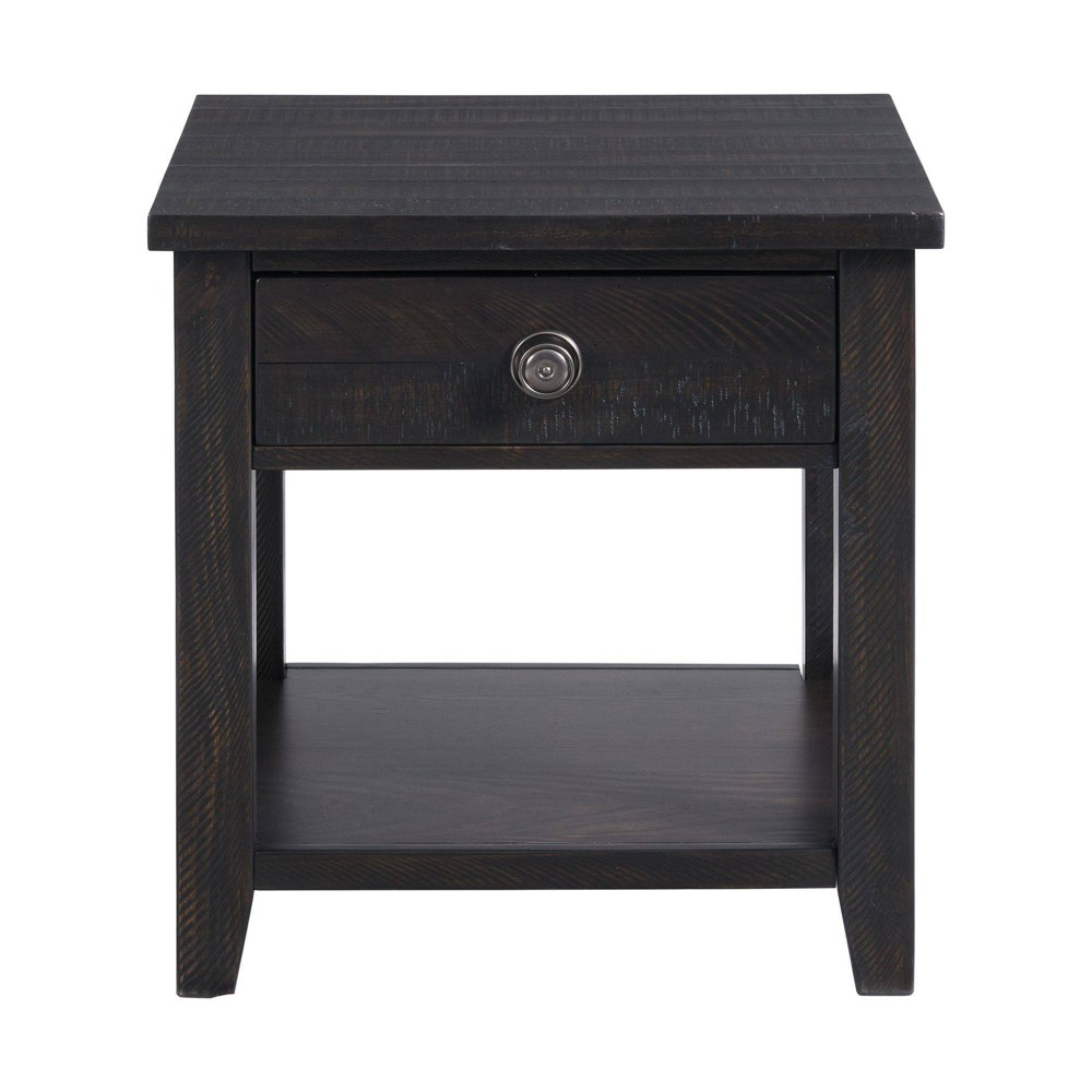 Kahlil End Table With Drawer Espresso Picket House Furnishings