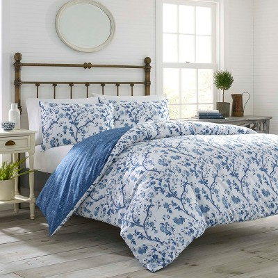 Elise Duvet Cover Set Blue - Laura Ashley